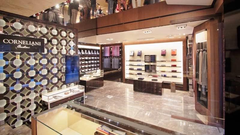 Corneliani Shop in via Monte Napoleone best shopping areas in Milan