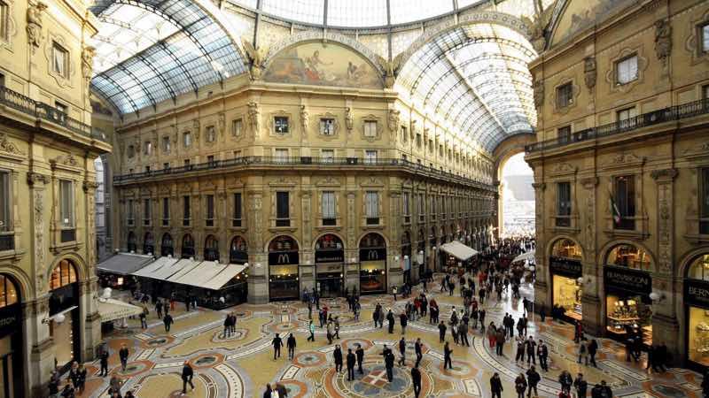 The Galeria Vittorio Emanuele in Milan