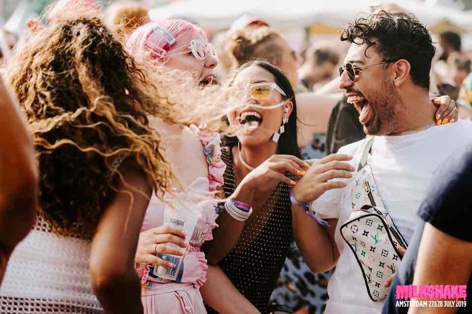 Fans enjoying at Milkshake Festival Amsterdam