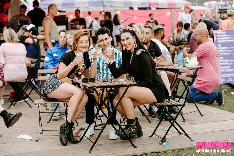 Fans having a drink at Milkshake Festival Amsterdam