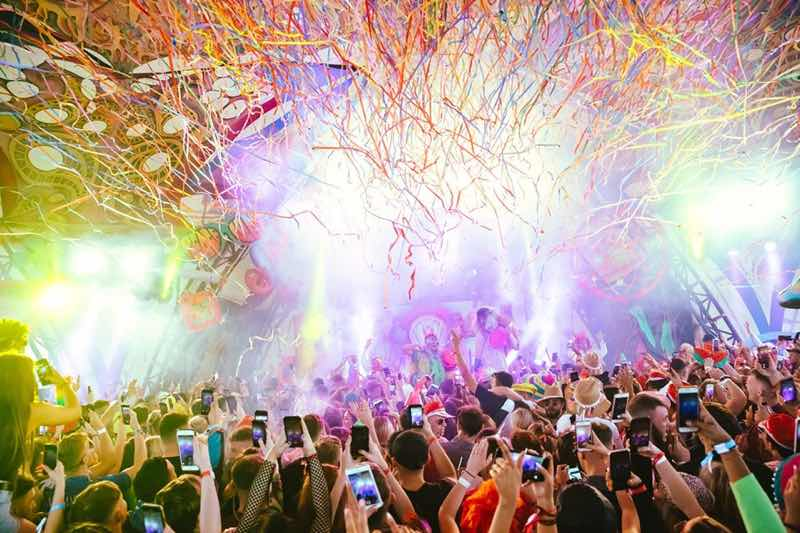 Elrow stage at Mint Festival