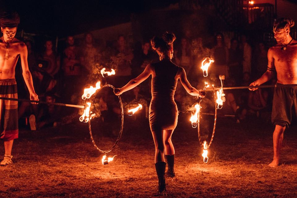 Fire show at Modem Festival