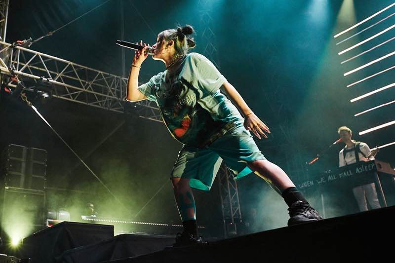Performing on stage at MS Dockville Festival