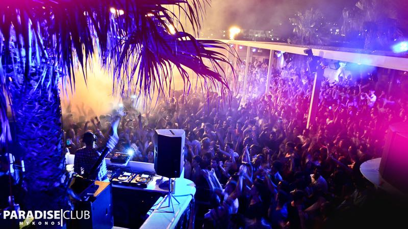 Best clubbing destinations Paradise Club in Mykonos Greece
