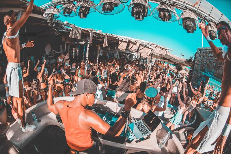 Paradise Beach Club party in Mykonos travel guide