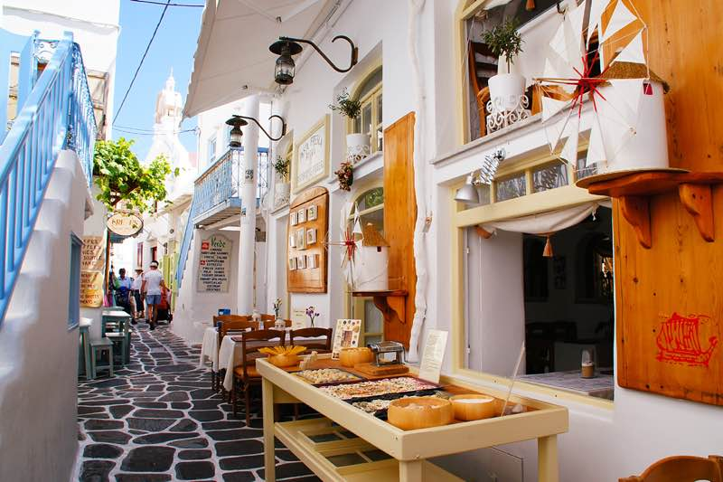 Shops in Mykonos travel guide
