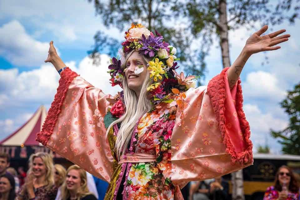 Flower girl at Mysteryland Festival