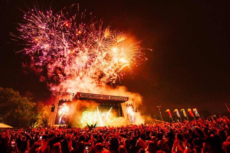 Fireworks at Neighbourhood Weekender Festival