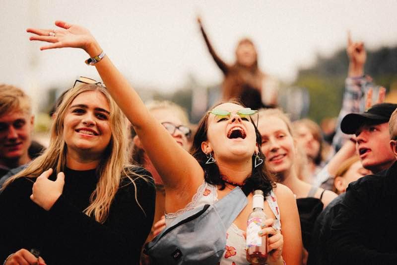 Front row fans at Neighbourhood Weekender Festival