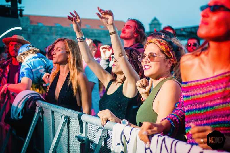 Front row fans at Neopop festival