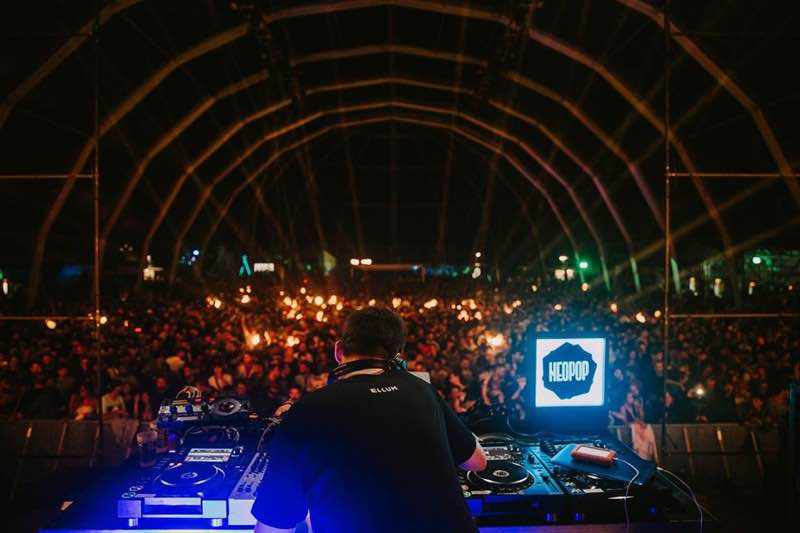 Performing at Neopop festival
