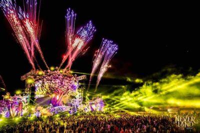 Celebration at main stage at Neverland Festival