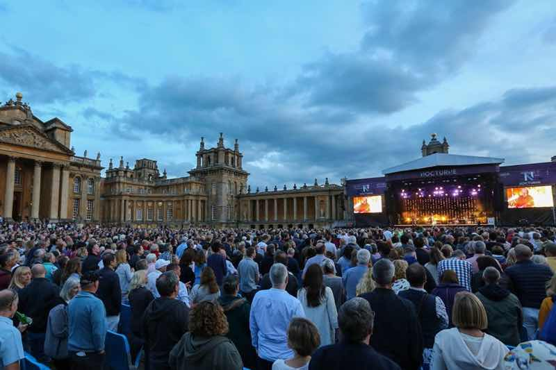 Fans and main stage at Nocturne Live at Blenheim Palace