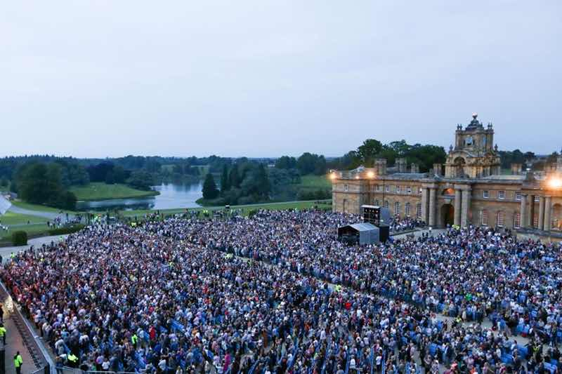 View at Nocturne Live at Blenheim Palace