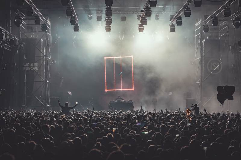 Dancing at main stage at Nuits Sonores Festival