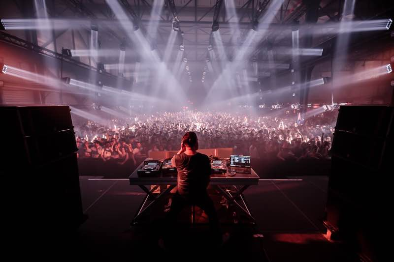 Dj box view at Nuits Sonores Festival