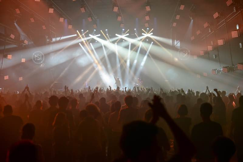 Stage lights show at Nuits Sonores Festival
