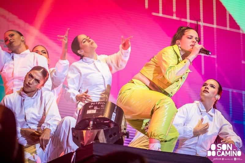 Rosallia performing at O Son do Camino Festival