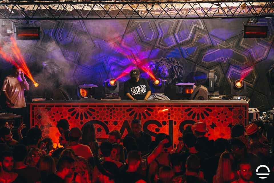 Dancing at Oasis Festival