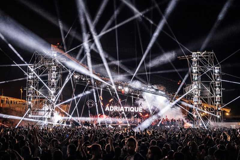Stage lights show at Off Week Festival