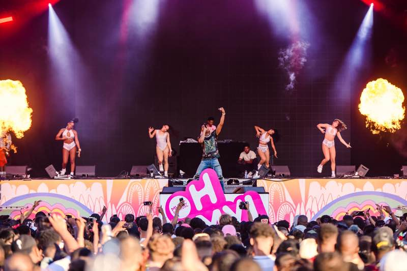Dancing on stage at Oh My Music Festival