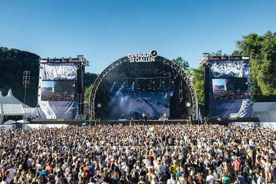 Main stage crowd at Openair St Gallen Festival