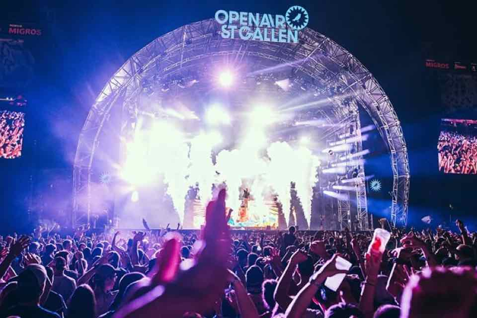 Main stage lights at Openair St Gallen Festival
