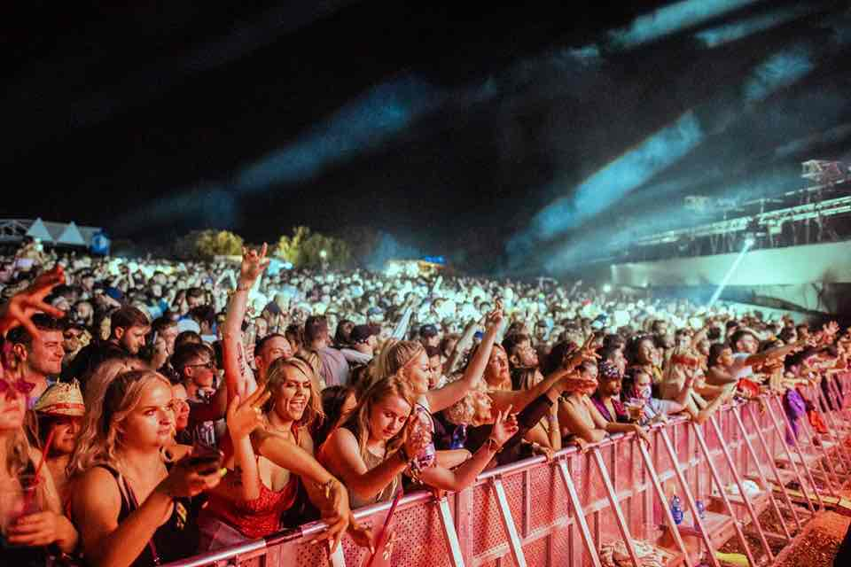 Front row fans at Outlook Festival