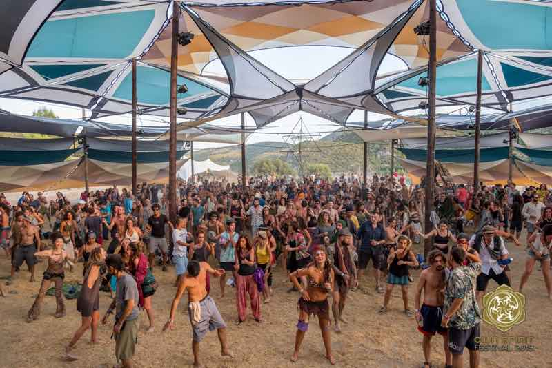 Main stage dancing at Own Spirit Festival