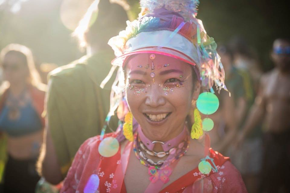 Enjoying at Ozora Festival