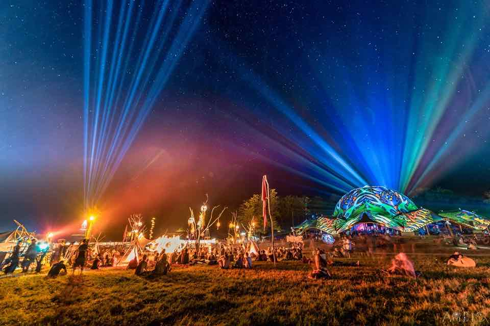 Sky colours at Ozora Festival