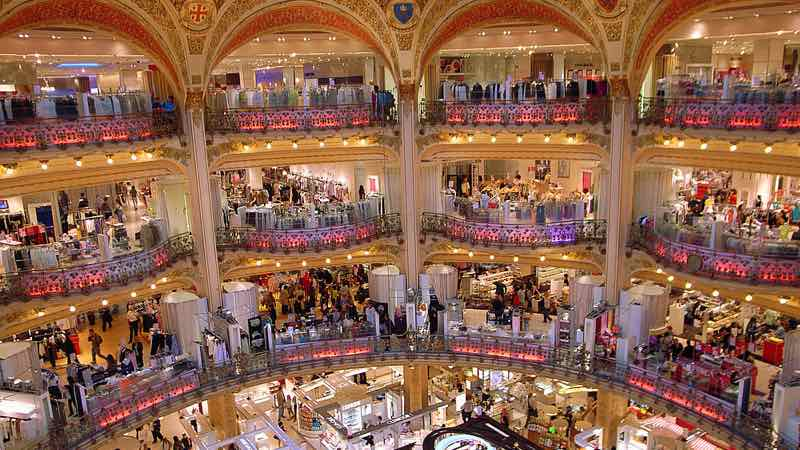 Galeries Lafayette at Boulevard Haussmann in Paris best places to shop