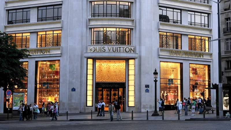 The Luis Vuitton shop in Paris