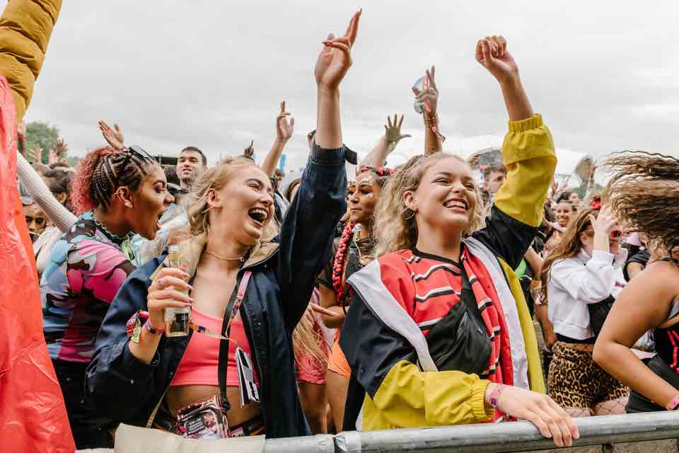 Front row fans at Parklife Festival