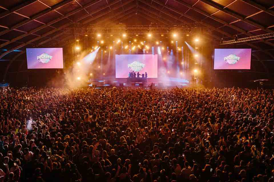 Indoor stage dancing at Parklife Festival