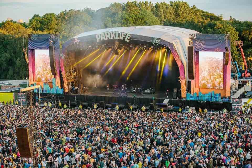 Lights show on stage at Parklife Festival