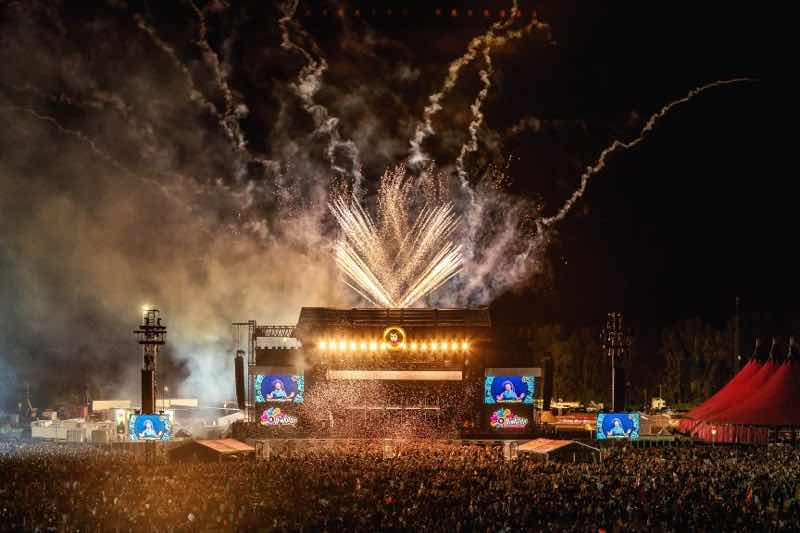Fireworks at Pinkpop Festival