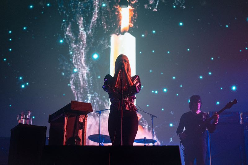 Chromatics performing at Pitchfork Music Festival Paris