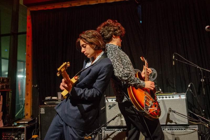 Sons of Raphael performing at Pitchfork Music Festival Paris