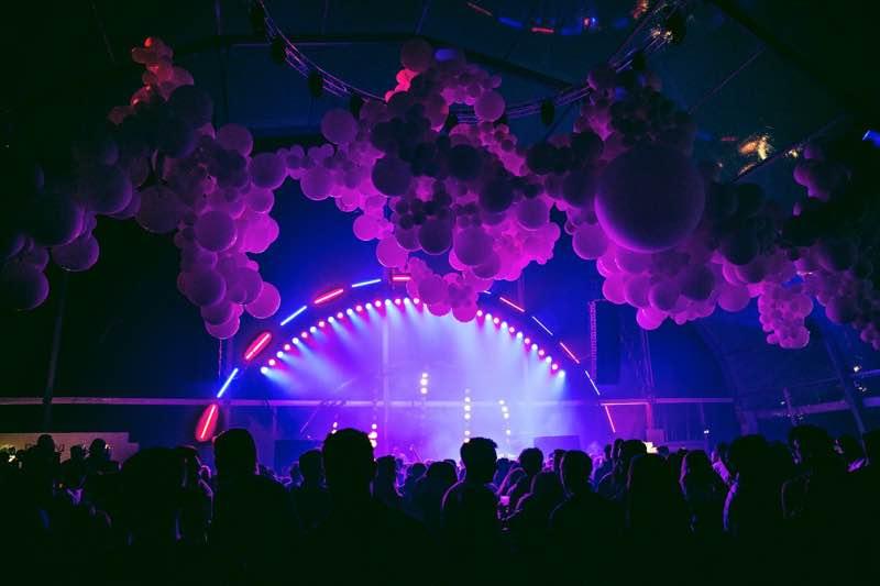 Main stage colours at Polaris Festival
