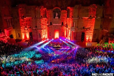 Lights show on stage at Positiv Festival