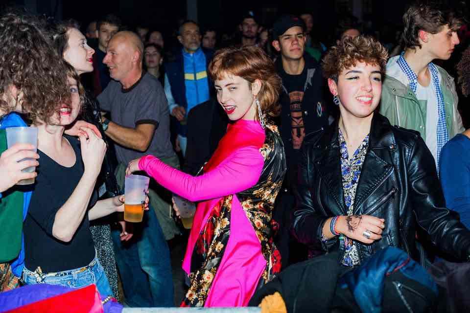 Fans dancing at Positive Education Festival