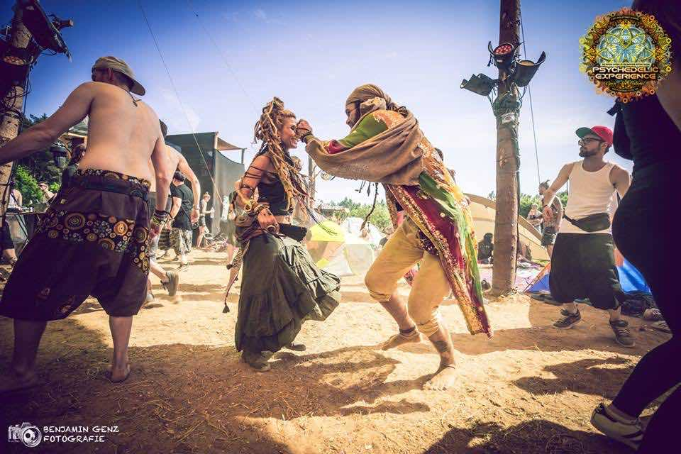 Dancing at Psychedelic Experience Festival
