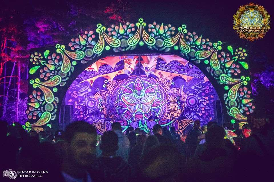 Dj box view at Psychedelic Experience Festival