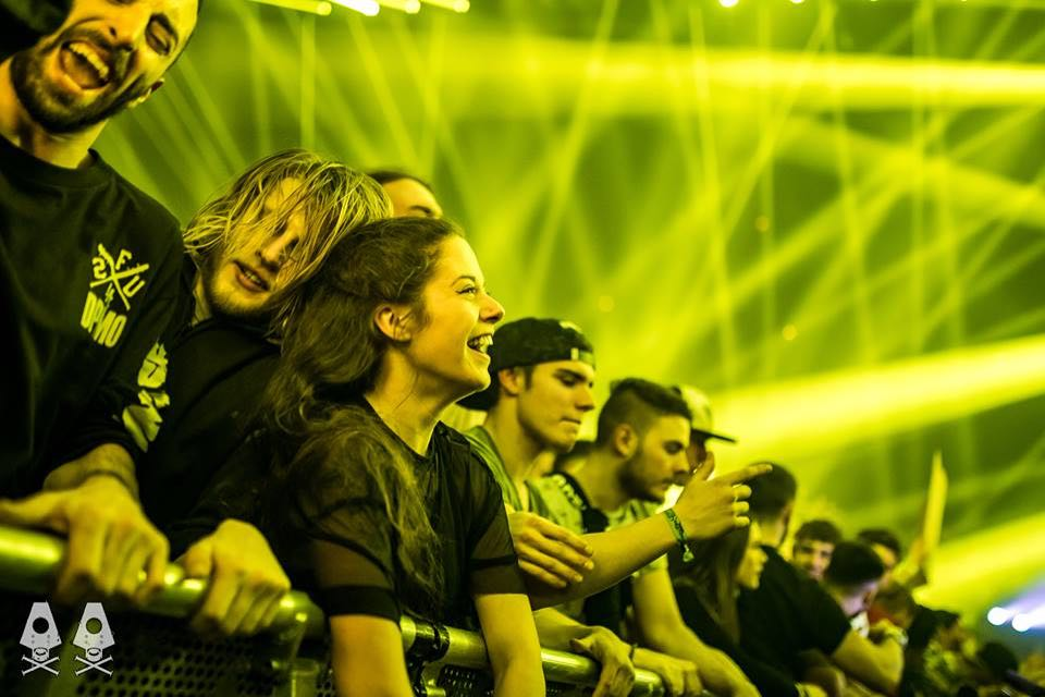 Front row fans at Rampage Festival