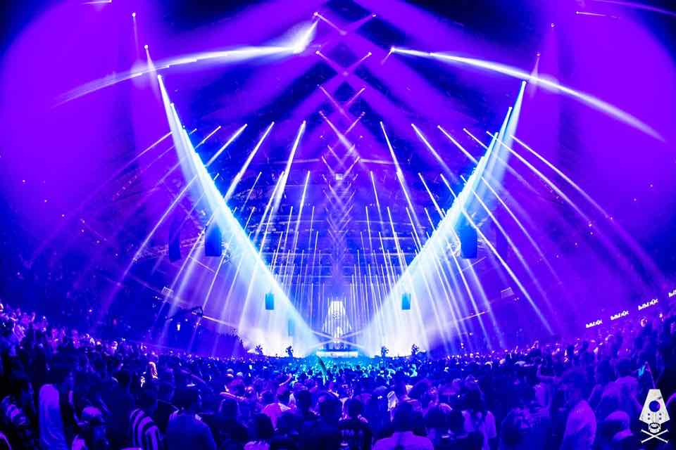 Lights show at Rampage Festival