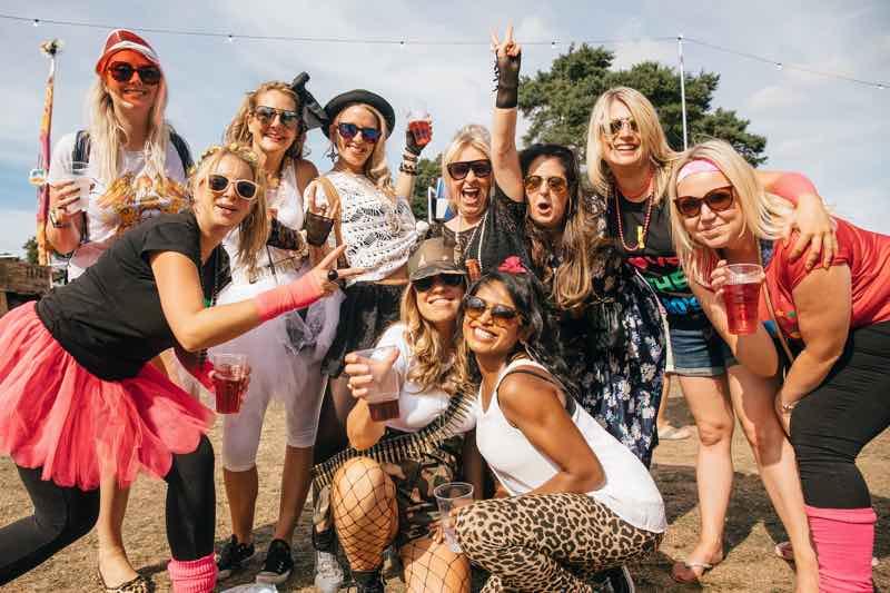 Fans having fun at Rewind Festival North