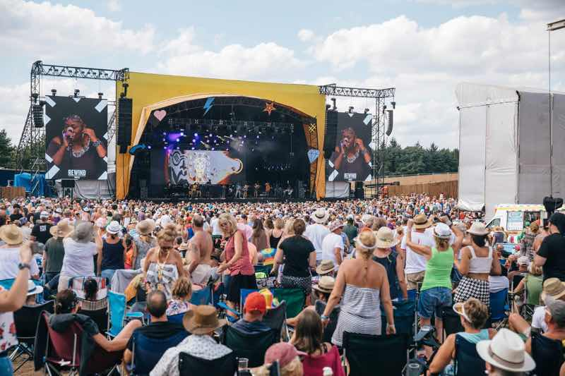 Dancing main stage at Rewind Festival North