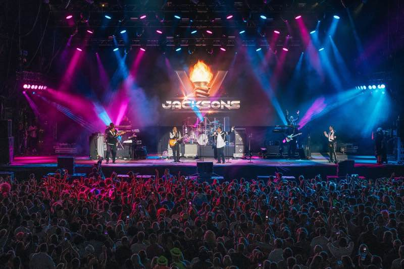 Main stage lights show at Rewind Festival North