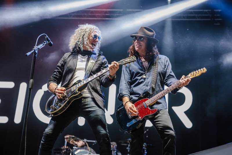Foreigner performing at Rewind Festival Scotland